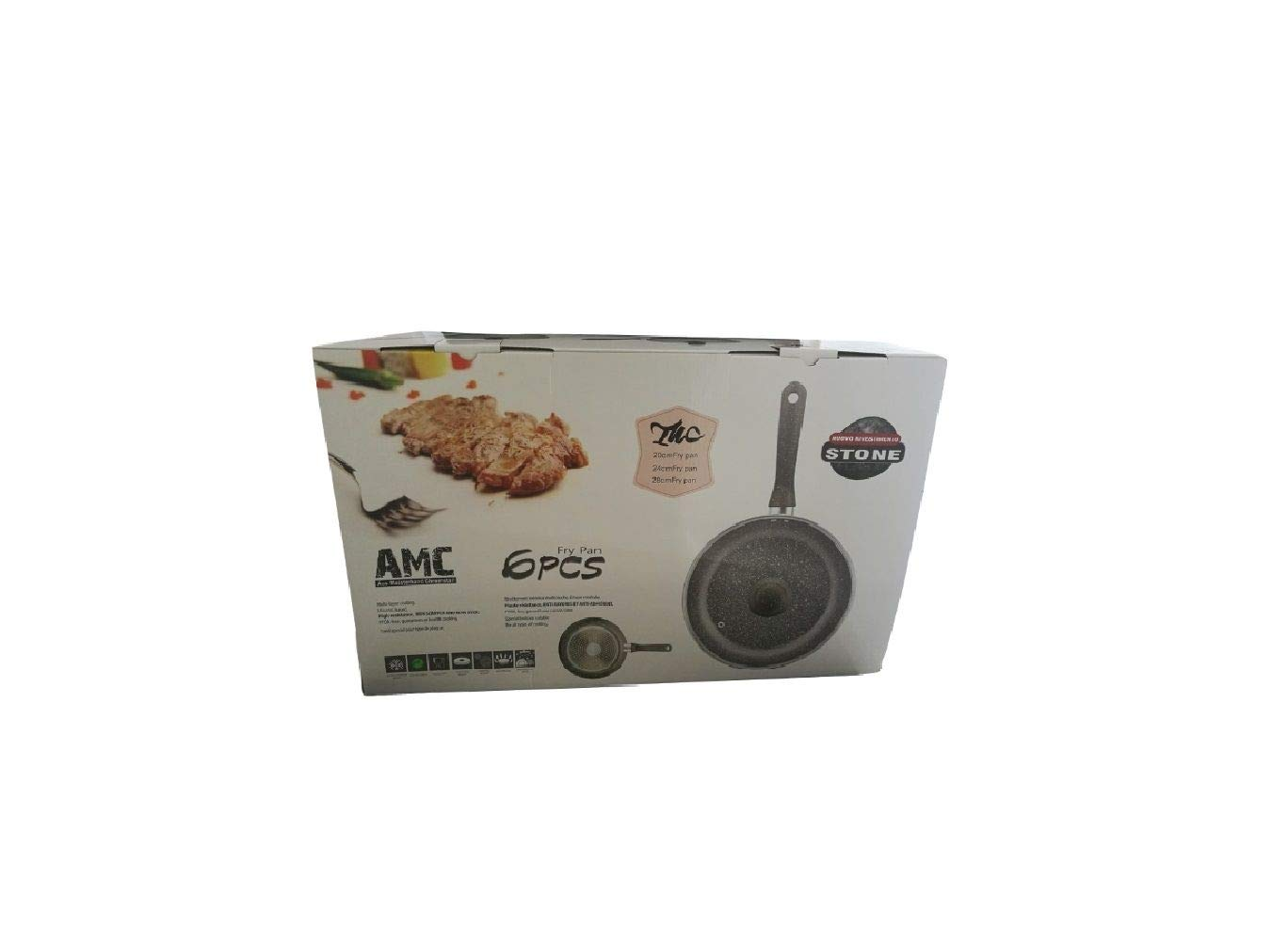 AMC Arcamania Set de 3 sartenes con Tapa Revestimiento Antiadherente Reforzado cm. 24 cm 28 cm: Amazon.es: Hogar