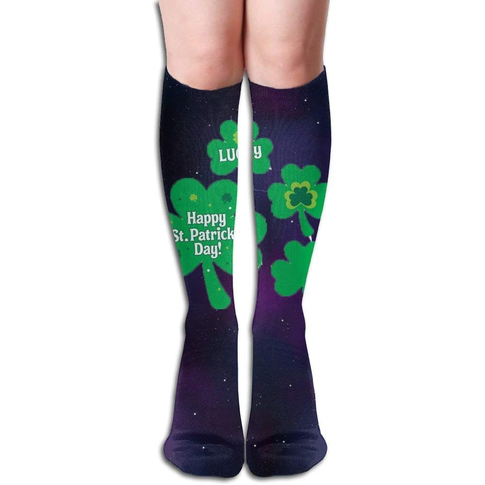Long 50cm) Compression Socks St.Patrick Day Unisex Full Socks Long Socks Knee High Socks