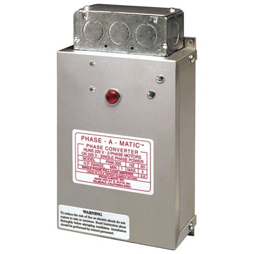 PHASE-A-MATIC Static Phase Converter #PC-300, (0.66-2HP Rated), 9.6 Max Amps
