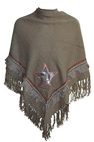 KARL LOVEN - Poncho - capa - para mujer marrón