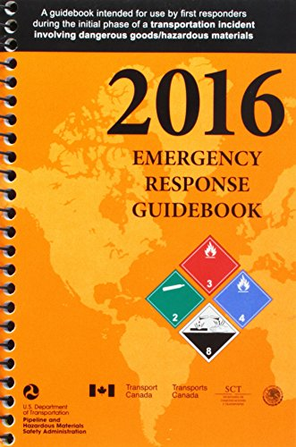 2016 Emergency Response Guidebook (ERG): Spiral Bound
