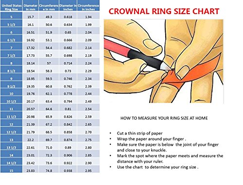 CROWNAL 4mm 6mm 8mm Tungsten Wedding Couple Bands Rings Men Women 24K Gold Plated Plain Dome Polished Engraved I Love You Size 4 To 17 (8mm,11) by CROWNAL (Image #6)