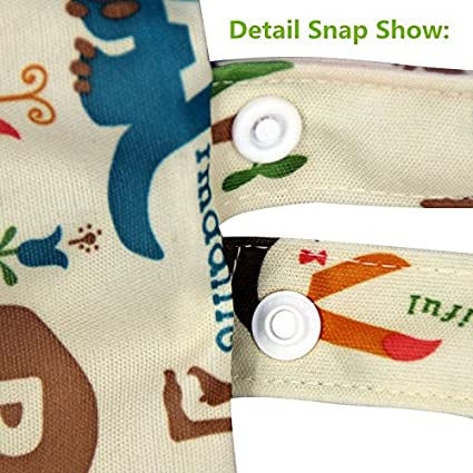 LVEDU Washable Baby Cloth Diaper Nappy Bag Waterproof Reusable Zipper Bag Cloth Diaper Bag Animals and Flowers Pattern