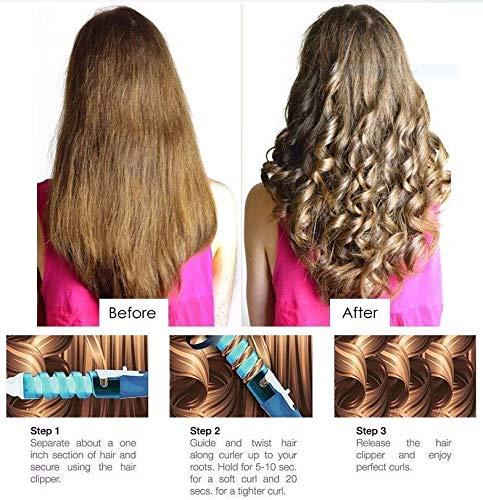 New rizador rizhen, profesional para arriciare I pelo de modo natural, plancha profesional para cabello rizado ondulado olas arriccia pelo (cerámica, ...