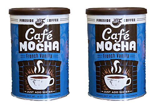 Fireside Instant Flavored Vanilla Coffee (Pack of 2) (French Vanilla)