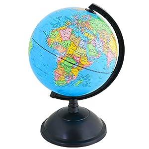 Exerz 20cm Educativo Globo Girable/Globo terráqueo – en Inglés – Diámetro (20cm)