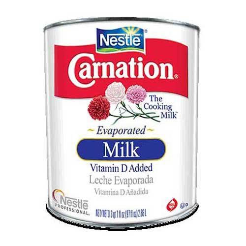 Carnation Evaporated Milk, 97 Ounce -- 6 Can per case.