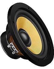 MONACOR SPH-174KE Hi-Fi bas-midrange driver, luidsprekerchassis in klassiek design en met hoogwaardig diafragma voor installatie in kistbehuizing, in zwart/beige