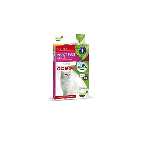 naturlys Octave – Producto natural – Pipeta anti-parasitaire Insect Plus para gatos – naturly