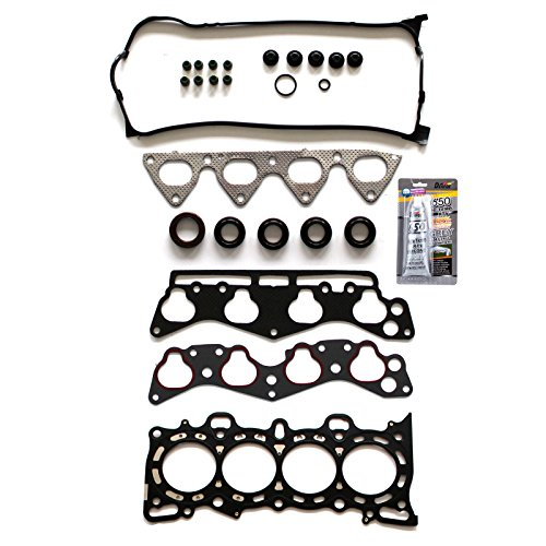 SCITOO Head Gasket Set Replacement for Honda Civic del Sol S/Civic del Sol Si/Civic GX/Civic CX DX LX VP/Civic EX Si/Civic HX 1.6L SOHC 16V 1996-2000 Head Gaskets Kit - Rubber Honda Gaskets
