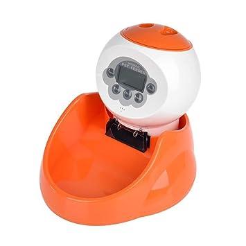 LBAFS Dispensador Automático De Alimentos para Mascotas Inteligente con Temporizador, Grabadora De Voz, Pantalla LCD para Perros Y Gatos: Amazon.es: Jardín