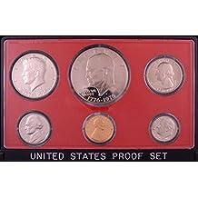1976 Proof Set Original Box 6 Coins Eisenhower Ike Dollar