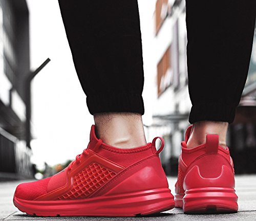 Shoes A Red Shoes Men's Shoes Breathable Fashion Sports Casual Weweya Walking Sneakers Running Lightweight FZTg0q
