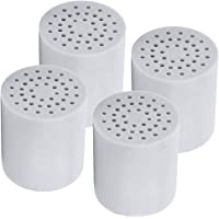 [Upgraded] 15 Stage Universal Shower Water Filter Cartridges (4 Pack) Removes Chlorine, Microorganisms, Hard Water - Replacement for all similar shower systems including AquaBliss, Hompal