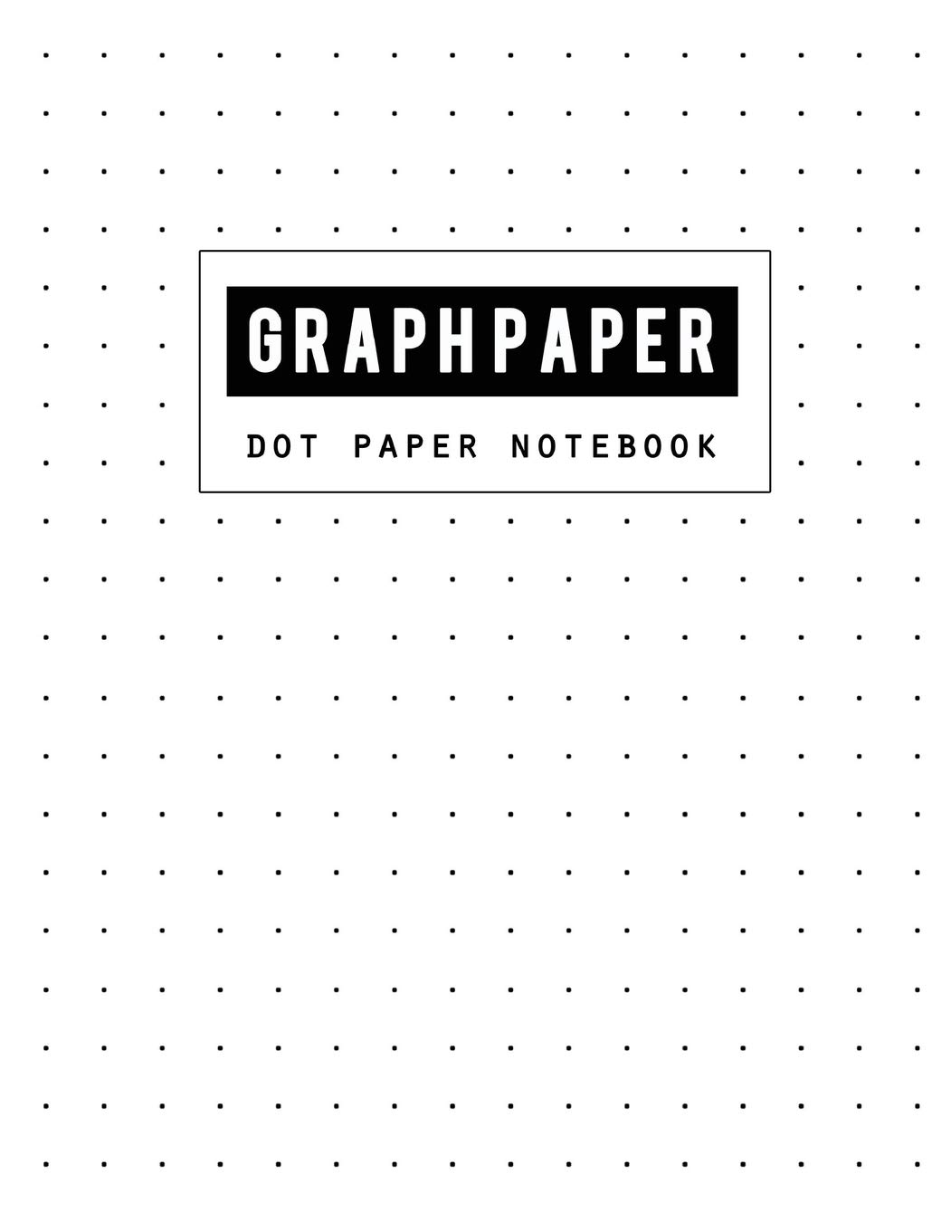 Graph Paper Dot Notebook: Dot Paper Blank Graphing, Writing Paper Notebook,  Double Sided, Isometric Graph Paper Dots, Bullet Journaling for .