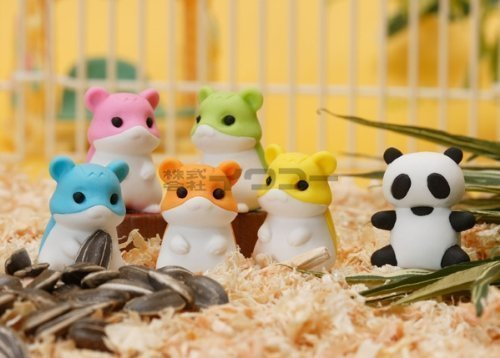 rs 5 Hamsters and 1 Panda (This Is a Signature Set of Iwako Eraser, a Must Have). (Hamster Eraser)