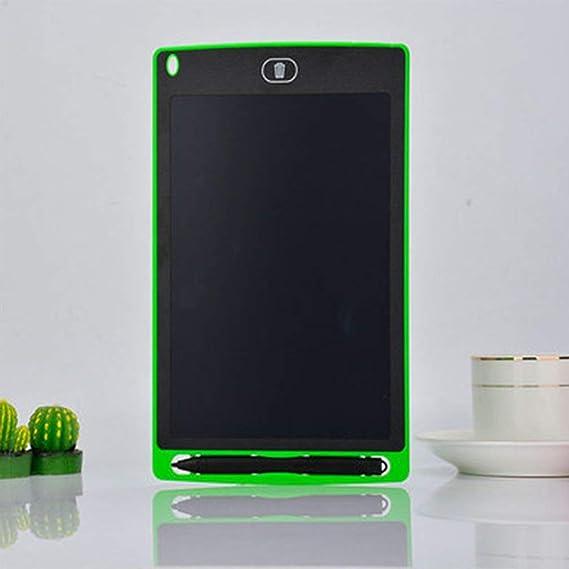 LCDライティングタブレットキッズ描画タブレット手書きボードパッドLcd手書きボード子供落書き描画ボード(緑8.5インチ)