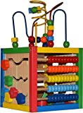 Activity Cube With Bead Maze - 5 in 1 Baby Activity Cube Includes