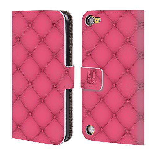 Head Case Designs Diamante Rosa Cuscini Cover a portafoglio in pelle per iPod Touch 5th Gen / 6th Gen