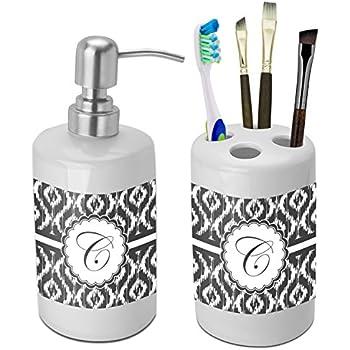 ikat bathroom accessories set ceramic amazon com fleur de lis bathroom accessories set ceramic