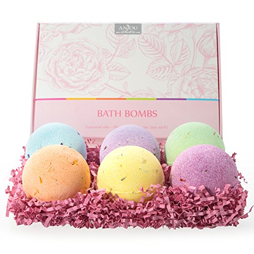 t Set, 6 x 4.0 oz Vegan Natural Essential Oils & Dry Flowers, lush Fizzy Spa Moisturizes Dry Skin, Bubble Baths, Perfect Gift Kit Ideas for Girlfriends, Women, Moms ()