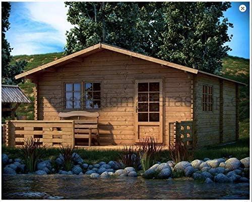 Mondocasette casa caseta de Madera de jardín – Modelo EKO Grosor Paredes 45 mm, M2, Chalet Bungalow de Madera: Amazon.es: Jardín