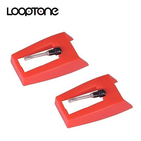 LoopTone - Juego de 2 agujas para reproductor de discos (punta de ...