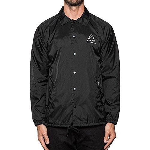 HUF Men's Triple Triangle Coaches Jacket, Black,