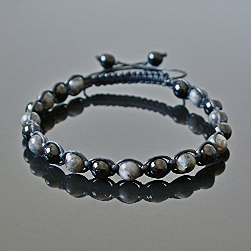 Amazoncom Black Tourmaline and Labradorite Handmade Beaded Crystal