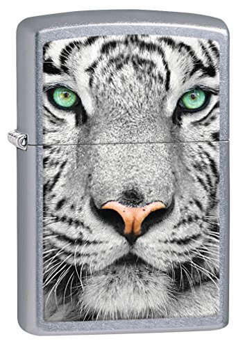 Zippo Lighter: White Tiger - Street Chrome 76911