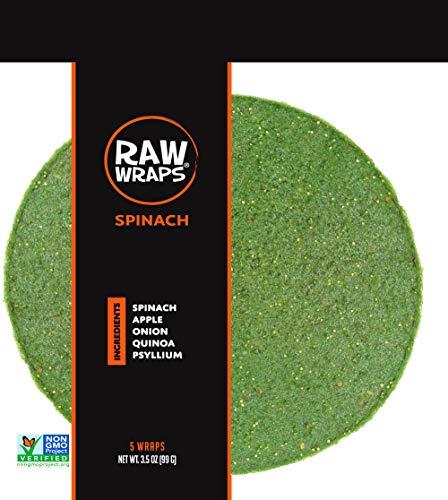 Raw Wraps Spinach- Gluten & Soy Free, Vegan & Raw, Paleo (Quinoa Seeds)