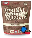 Primal Pet Food - Freeze Dried Dog Food 14-ounce Bag - Made in USA (Pork)