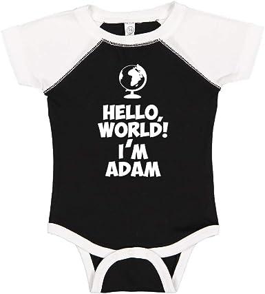 Personalized Name Toddler//Kids Long Sleeve T-Shirt World Im Hope Mashed Clothing Hello