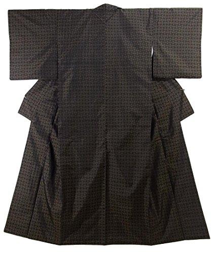 ピーク仮称農業のリサイクル 着物 大島紬 緯双 花模様 正絹 袷 裄64.5cm 身丈158cm