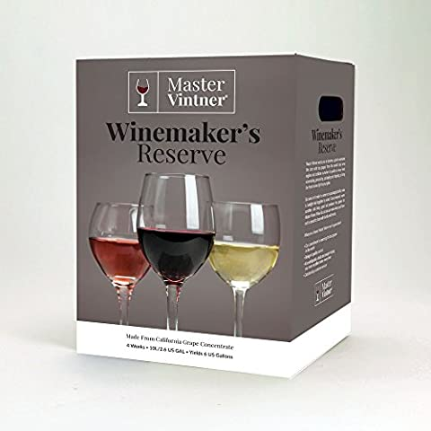 Shiraz Kit - Master Vintner Winemaker's Reserve Wine Making Recipe Kits - Ingredients for making 6 gallons of Homemade - Reserve Merlot Red Wine