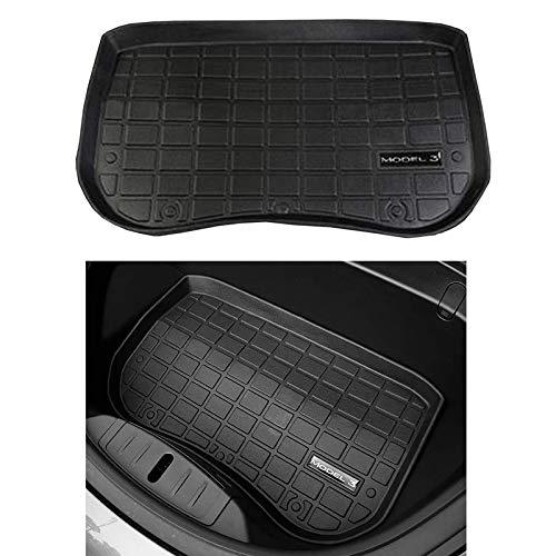 Alfombrilla Frontal Semoic Alfombrillas Protectoras para el Maletero del Maletero Delantero del Autom/óVil Alfombrilla Protectora Compatible con Tesla Model 3