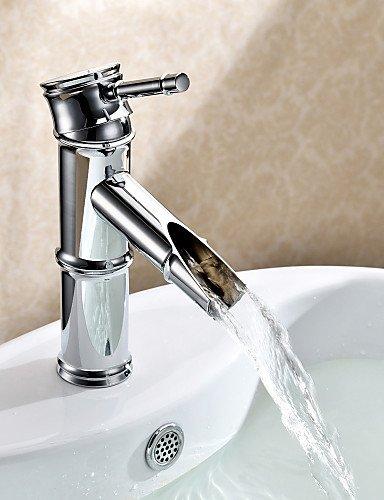 verchromt Messing Waschbecken Wasserhahn - Bambus Form Design