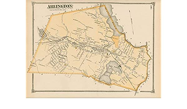 Amazon.com: Arlington Machusetts 1875 Old Town Map Homeowner ... on sc town map, sc house map, sc state map, historic downtown charleston map, sc island map, sc water map, sc interstate map, downtown charleston sc attractions map, sc green map, sc mining map, sc viper map, sc agriculture map, sc counties highway map, south carolina map, sc route map, sc railway map, sc flood maps, sc hotel map, south ga cities map, sc airport map,