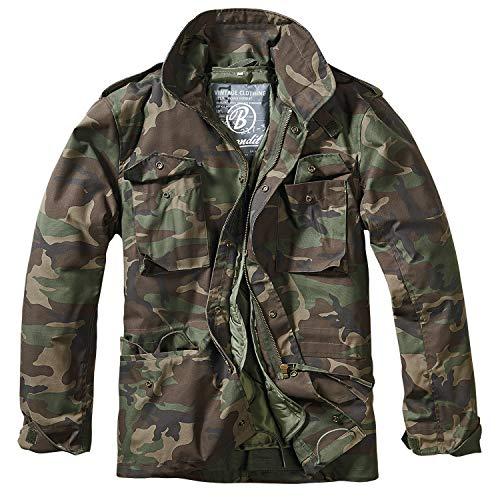 (Brandit Men's M-65 Classic Jacket Woodland Size 4XL)