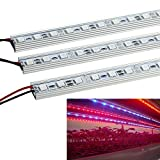 LVJING 5PCS 0.5m/strip 10W Red and Blue Light 36pcs 5050SMD Led Growing Light Strip Bar DC 12V Aluminum Shell for Indoor Garden Greenhouse Flowering Plant Hydroponics System For Sale