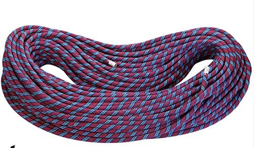 Zowaysoon 10m 11mm (49ft 0.43in) Climbing Dynamic Rope 8.9KN Rope for Rock Climbing Caving Canyoning (11mm Dynamic Rope)