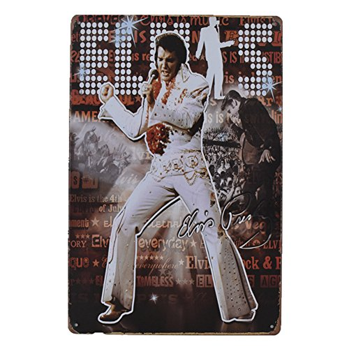 - PengTribe Elvis Presley Retro Vintage Metal Sign Poster Style Wall Art Bar Home Wall Decor12 X8