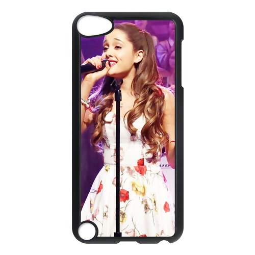Black/White Sides Classic Style Custom Unique Ariana Grande Design Skin Cover Case for iPod Touch 5th Durable Plastic iPod 5 Case