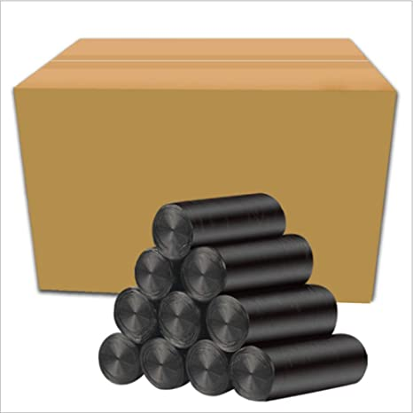 Una caja de cincuenta rollos Bolsas de basura ecológicas ...