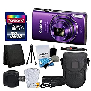 Canon PowerShot ELPH 360 HS Digital Camera - Accessory Bundle