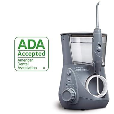 Waterpik Water Flosser Electric Dental Countertop Oral Irrigator For Teeth – Aquarius Professional, WP-667 Modern Gray