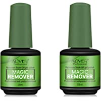 2Pcs Magic Nail Polish Remover, Easily & Quickly Removes Soak-Off Gel Polish, Don't Hurt Nails, Professional Non-Irritating Nail Polish Remover-15ml