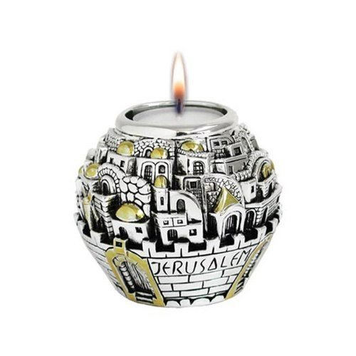 Silver Electroforming Memorial Candle Holder Jerusalem Ball Shaped by (Jerusalem Ball)