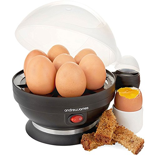 Andrew James Electric Egg Boiler Poacher Cooker and Timer with Steamer...