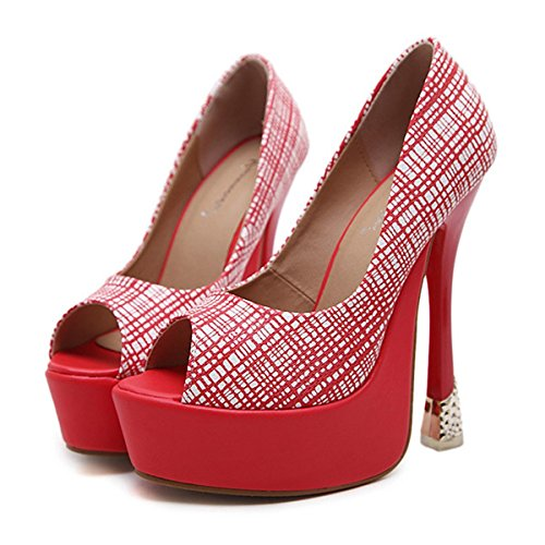 Pelle Scarpe Rosso di Rientrano Matrimonio Tacchi Molla Stivali a da in Bootie per Nero Stiletto Heel Comfort Donna DIMAOL Novità Brevetto Rosso Moda BfdIfq